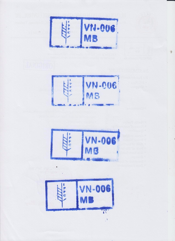 Mẫu dấu MB 006